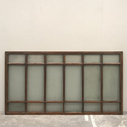 antique solid teak glazed doors with overhead window