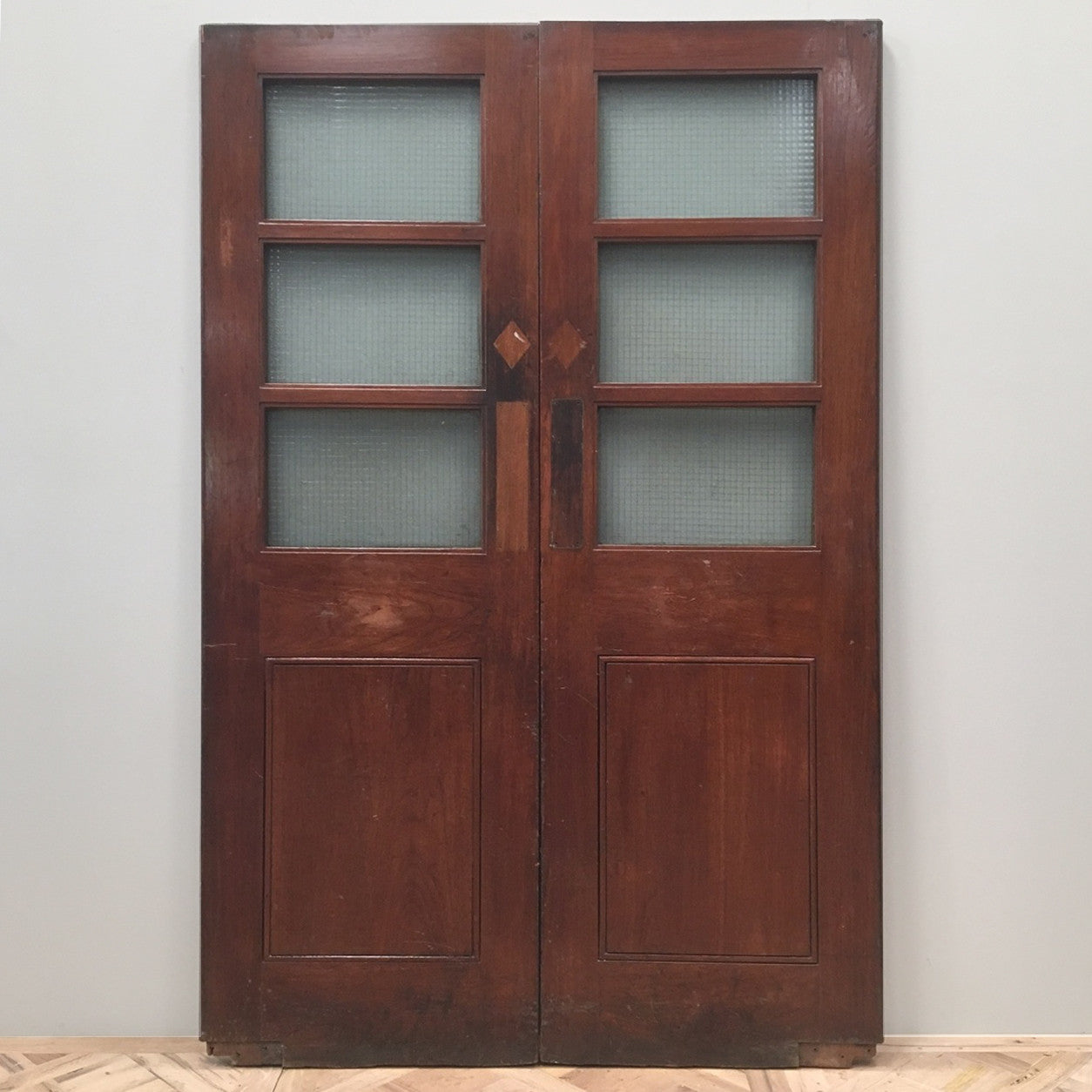 Reclaimed Teak Double Doors - 138cm x 210cm - architectural-forum
