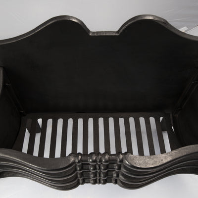 Reclaimed Victorian Style Cast Iron Fire Basket