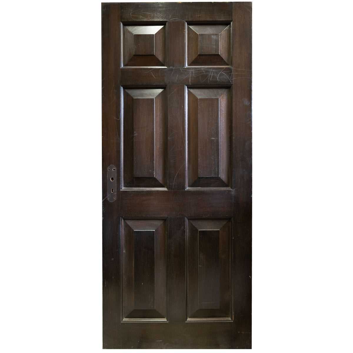 Reclaimed Solid Mahogany Six Panel Door 196 X 83.5cm (15 available) | The Architectural Forum