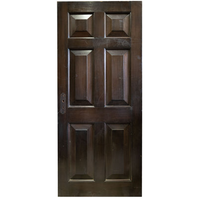Reclaimed Solid Mahogany Six Panel Door 196 X 83.5cm (15 available) - architectural-forum