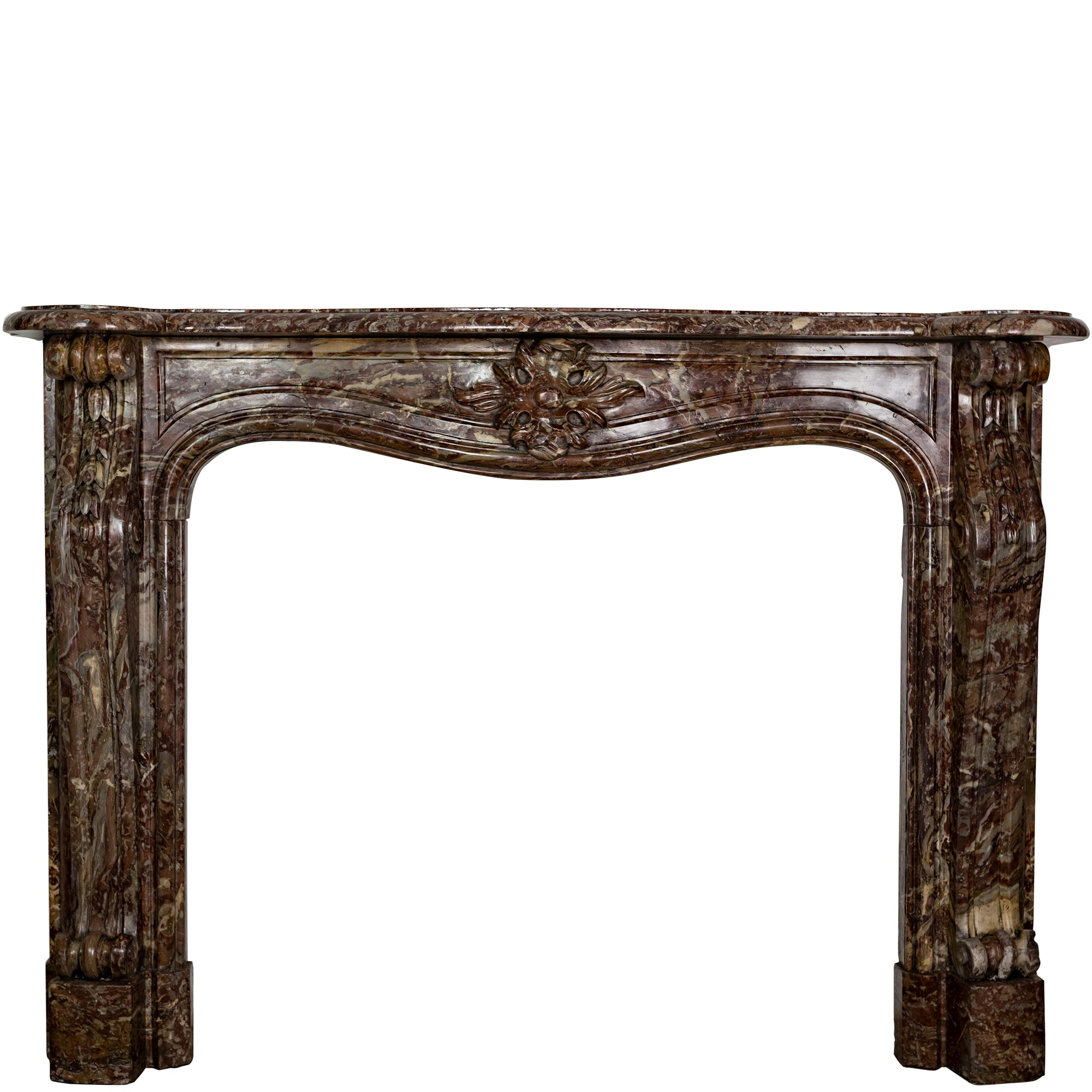 Louis XV Style Rococo Marble Fireplace Surround