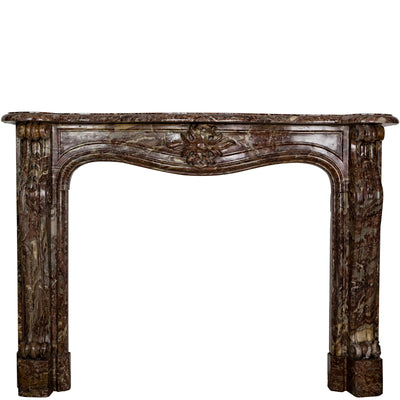 Reclaimed Louis XV Style Rococo Marble Fireplace Surround