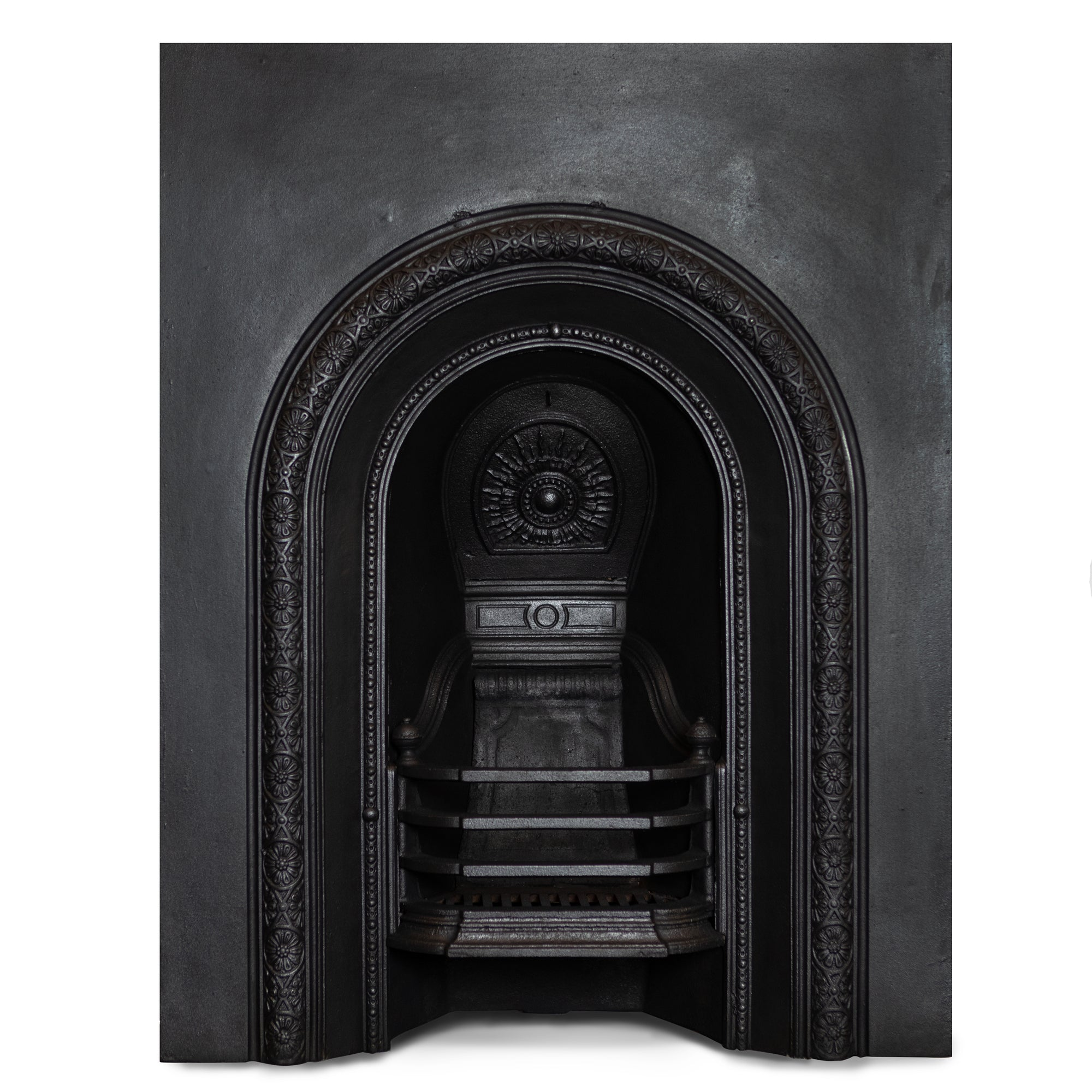 Antique Victorian Arched Cast Iron Fireplace Insert | The Architectural Forum