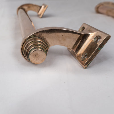 Original Art Deco Brass Door Pull Handles