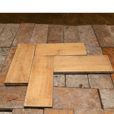 Antique Reclaimed Oak Parquet Flooring 12m² - architectural-forum