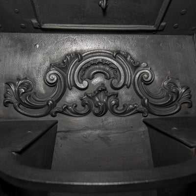 Antique Ornate Georgian Cast Iron Hob Grate Insert - The Architectural Forum