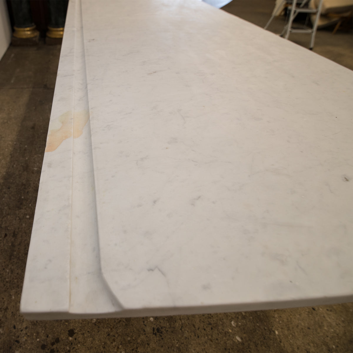 Marble and Cast Iron Industrial Fishmongers Table
