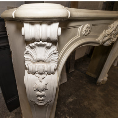 Antique Victorian Louis Style Wooden Fireplace Surround - The Architectural Forum