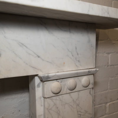 Antique Early Victorian Carrara Marble Fireplace Surround - The Architectural Forum