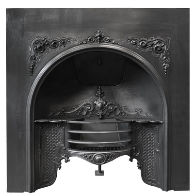 Antique Ornate Late Georgian, Early Victorian Cast Iron Insert - The Architectural Forum