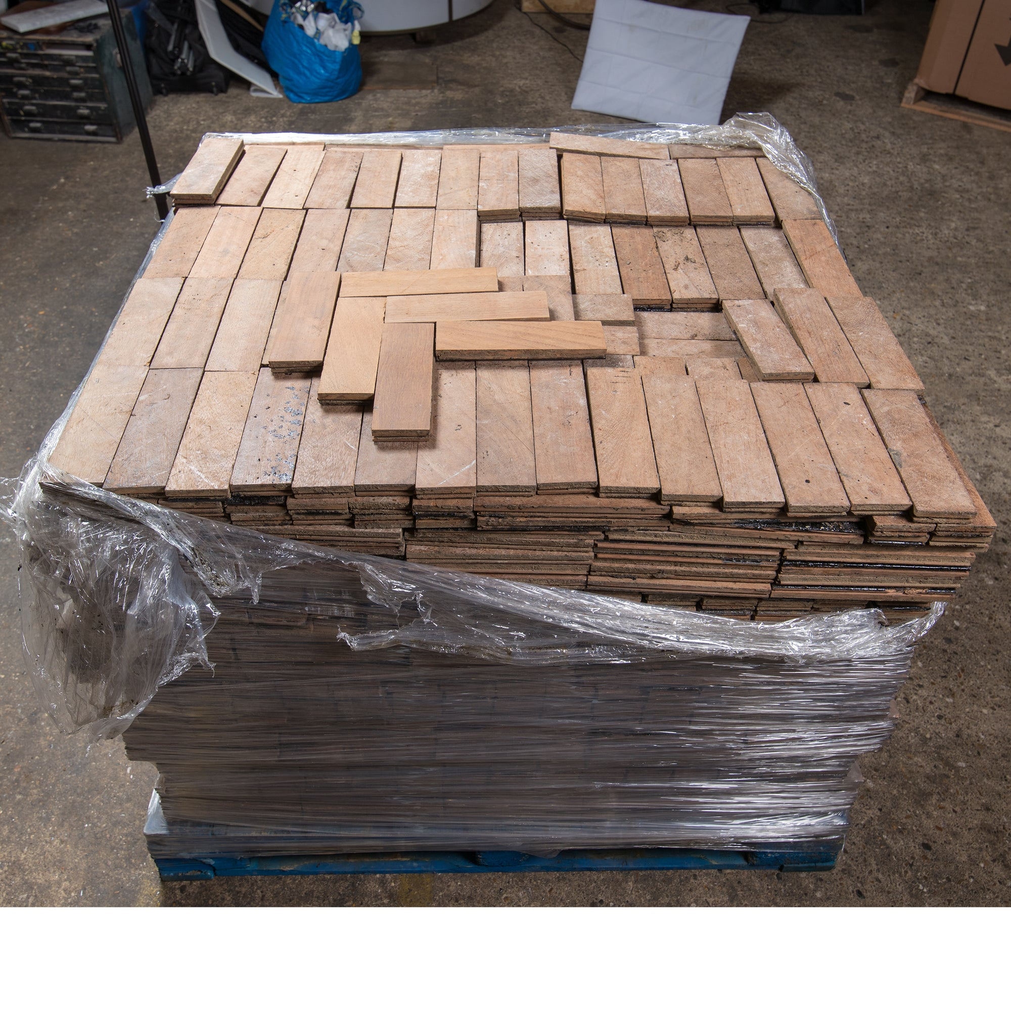 Antique Reclaimed Teak Parquet Flooring 18m² Available | The Architectural Forum