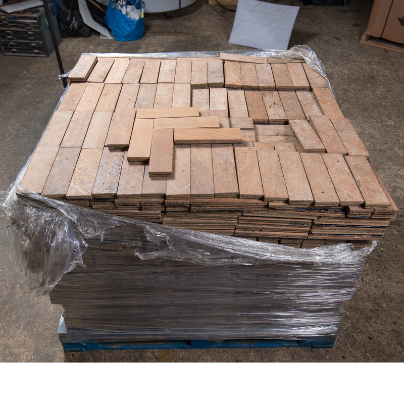 Antique Reclaimed Teak Parquet Flooring 18m² Available - architectural-forum