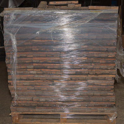 18 sqm of Antique Reclaimed Pine Parquet Flooring - architectural-forum