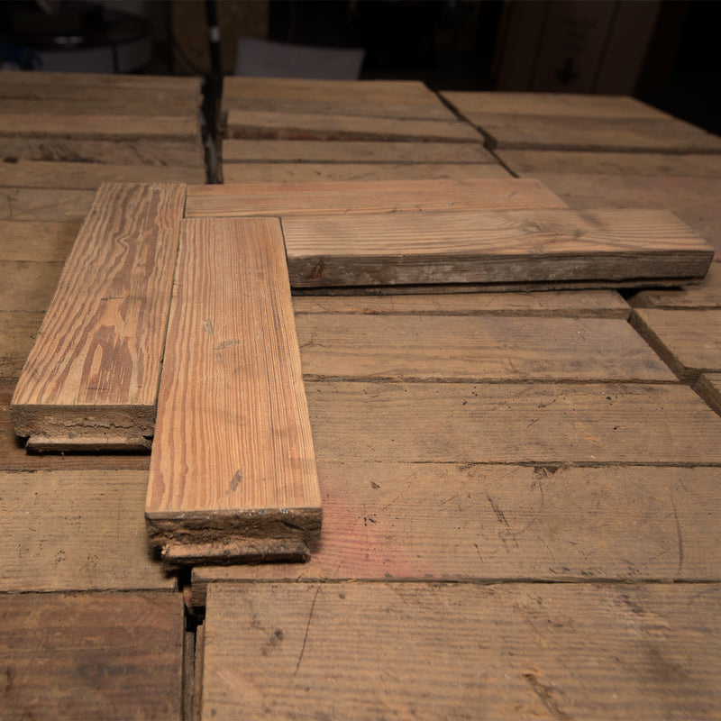 Antique Reclaimed Pine Parquet Flooring 53m² Available