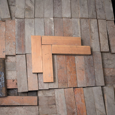 Antique Reclaimed Pine Parquet Flooring 18m² Available - The Architectural Forum