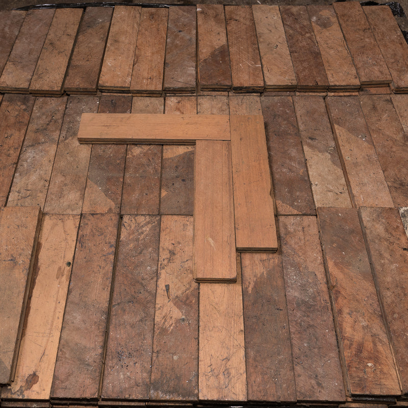 Antique Reclaimed Teak Parquet Flooring 7m² - architectural-forum