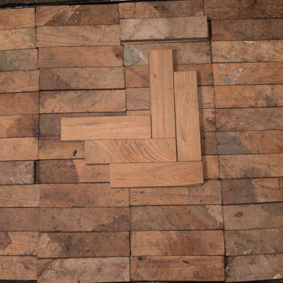 Antique Reclaimed Teak Parquet Flooring 14m² - The Architectural Forum
