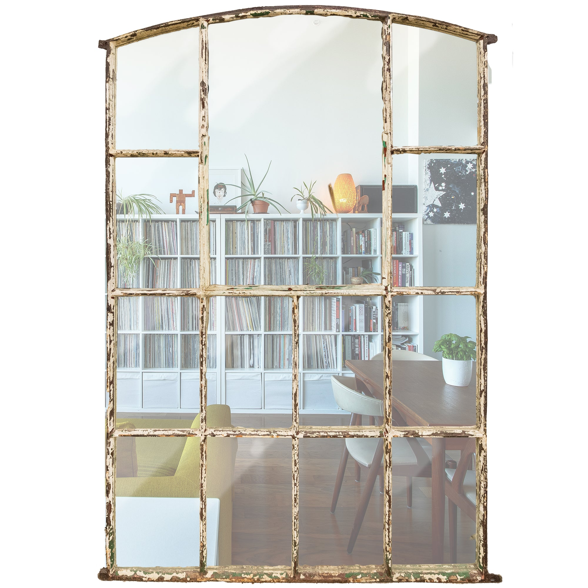 Antique Upcycled Victorian Warehouse Window Mirror - The Architectural Forum