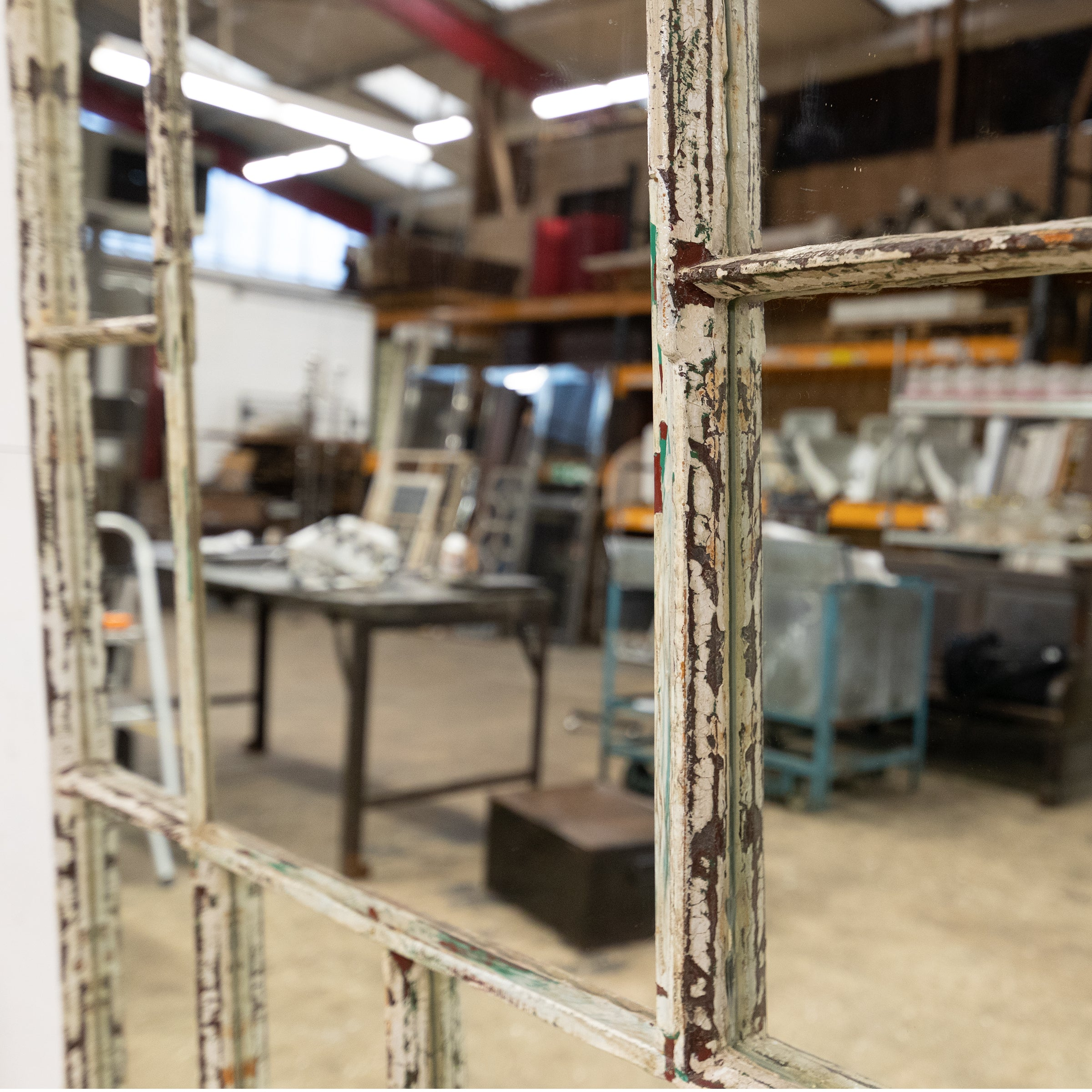 Upcycled Antique Victorian Warehouse Window Mirror