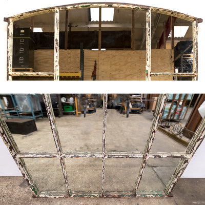 Antique Upcycled Victorian Warehouse Window Mirror - architectural-forum