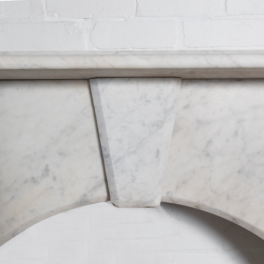 Antique Victorian Arched Marble Fireplace Surround