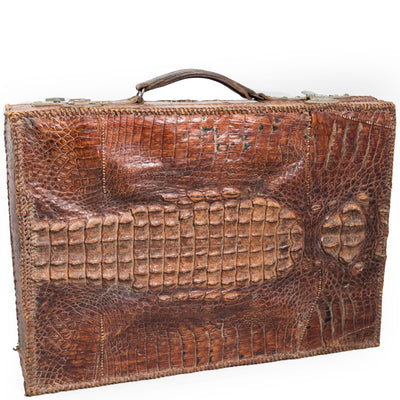 Antique Crocodile Skin Briefcase - architectural-forum
