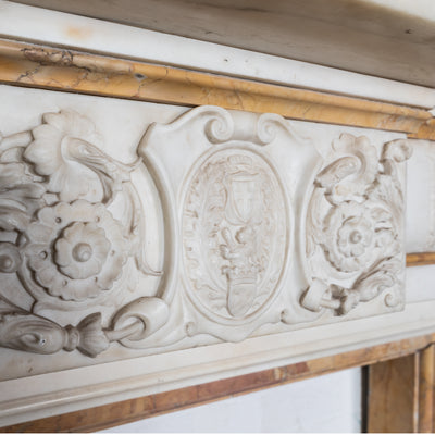 Antique Statuary & Sienna Marble Fireplace Surround - The Architectural Forum