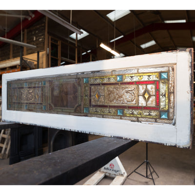 Antique Victorian Stained Glass Double Doors | Peace & Plenty - architectural-forum
