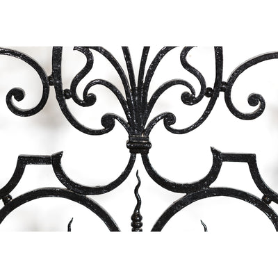 Large Ornate Mid 19th Century Wrought Iron Gate with Light - architectural-forum