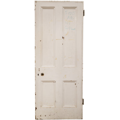 Reclaimed Victorian Four Panel Pine Door - 203cm x 82.5cm - architectural-forum