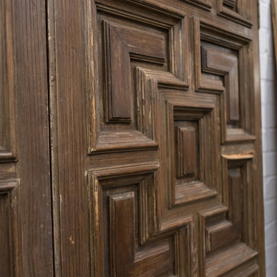 Reclaimed Panelled Pine Double Doors 180cm x 120cm (2 pairs available)