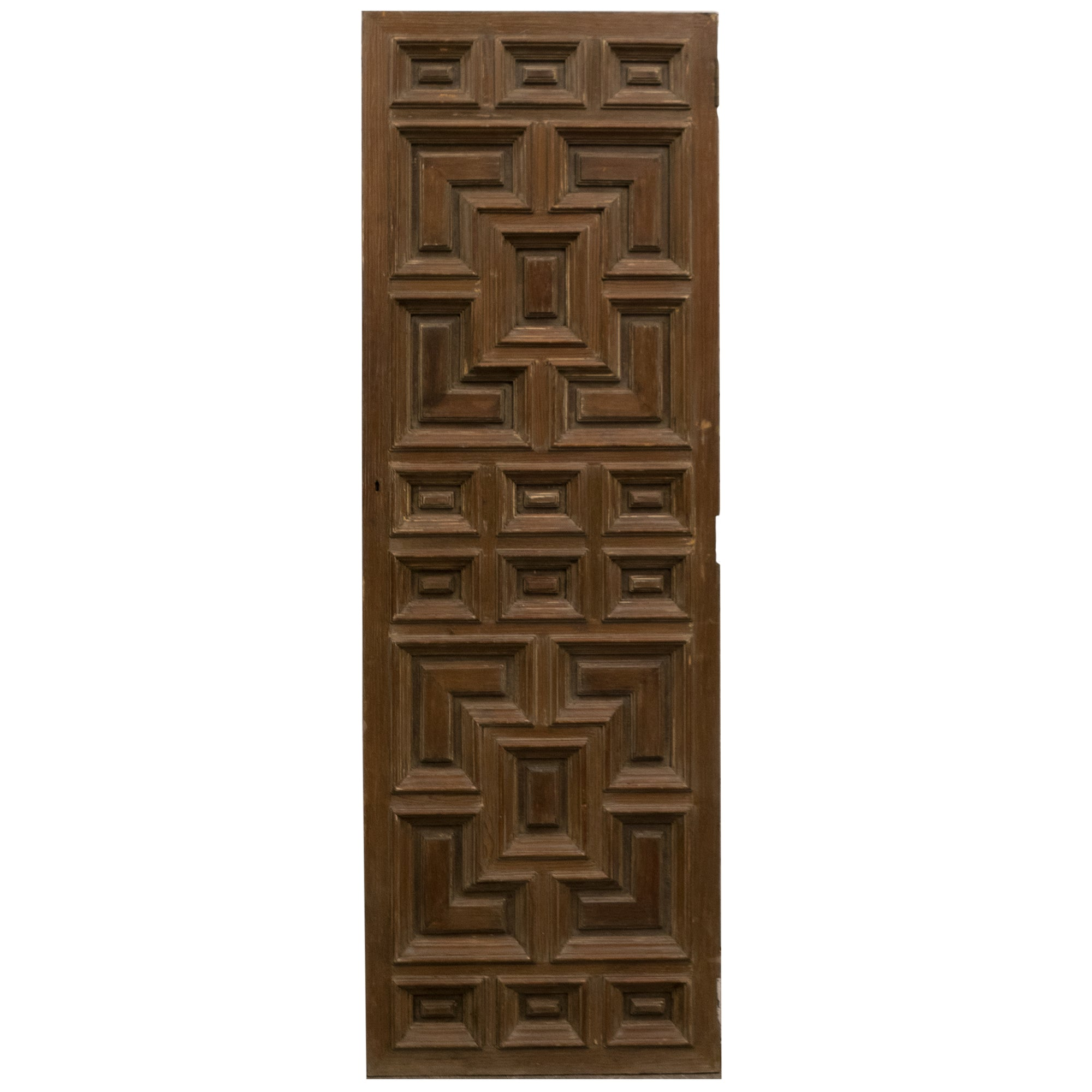Reclaimed Panelled Pine Door 180cm x 59.3cm - architectural-forum
