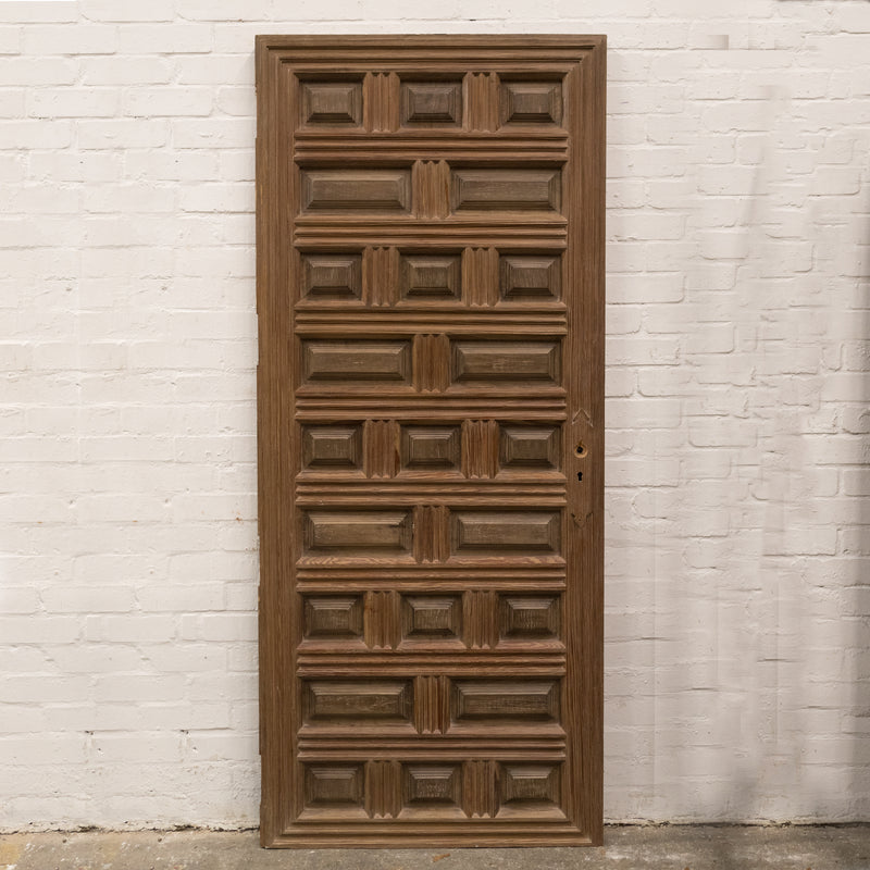 Reclaimed Panelled Pine Door 193cm x 82cm (2 available) - architectural-forum