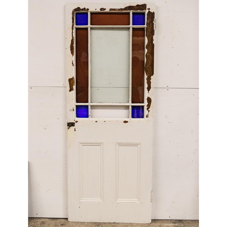 Antique Victorian Stained Glass Door 195.5cm x 75.5cm