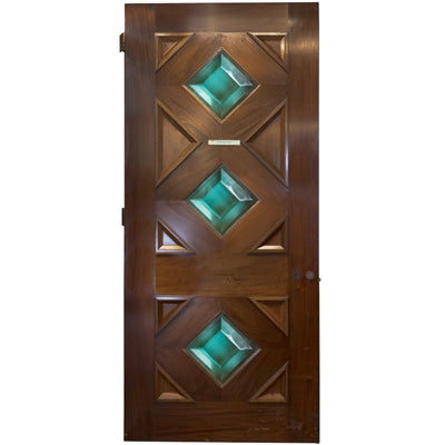 Solid Mahogany Door with Diamond Glazing