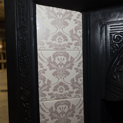 Edwardian Cast Iron Tiled Fireplace Insert