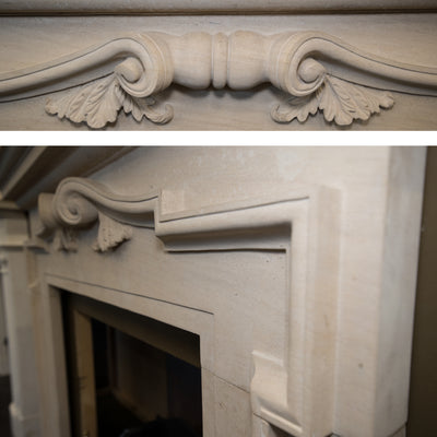 Baroque Style Limestone Fireplace Surround - The Architectural Forum