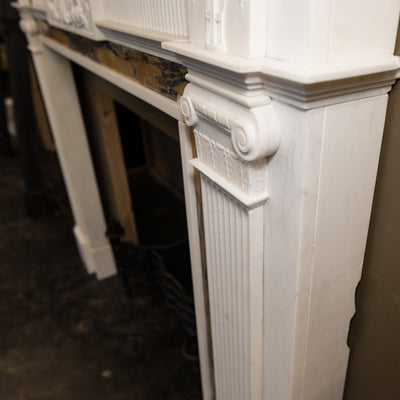 Georgian Style Statutory & Sienna Marble Fireplace Surround