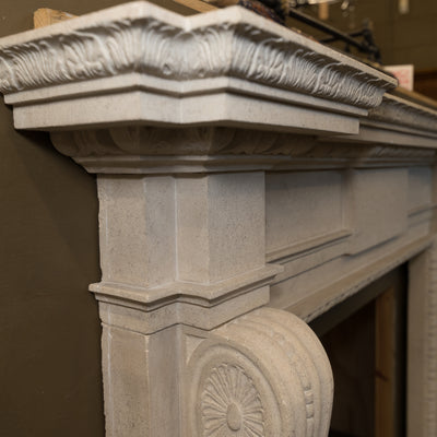Neoclassical Style Bath stone Fireplace Surround