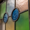 Antique Victorian Stained Glass Glazed Door (195.5cm x 70.5cm)