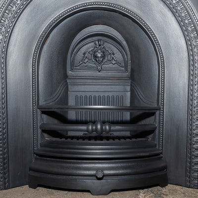 Victorian Style Cast Iron Fireplace Arched Insert