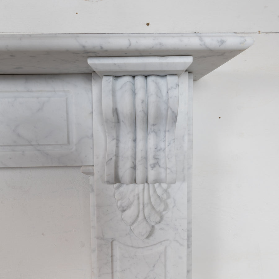 Reclaimed Victorian Style Marble Fireplace Surround with Corbels