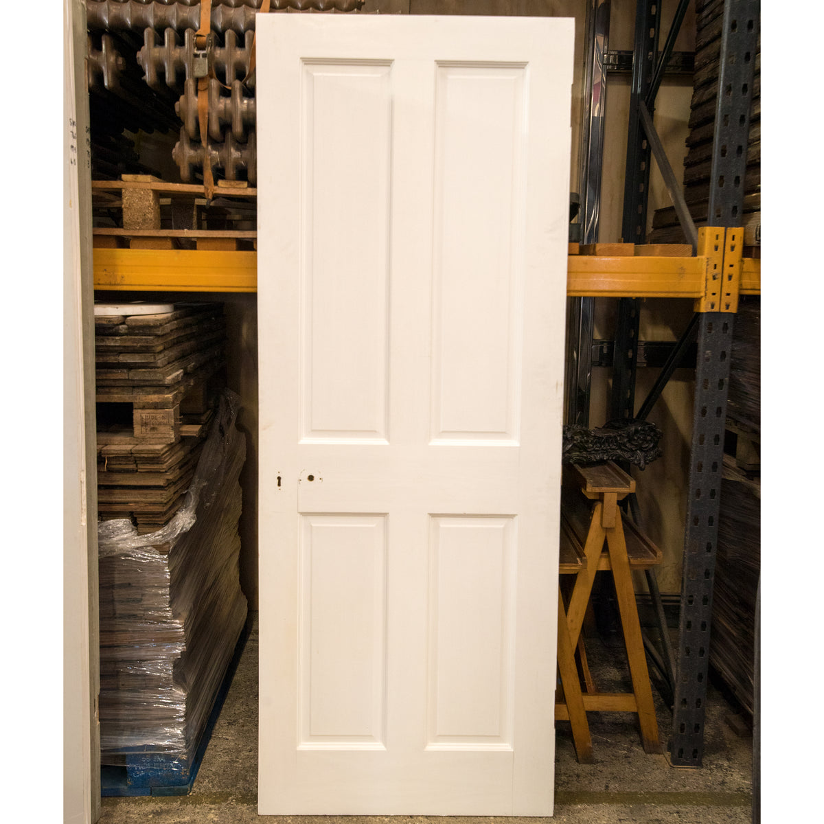 Reclaimed Victorian Style 4 Panel Door - 198.5cm x 76cm | The Architectural Forum