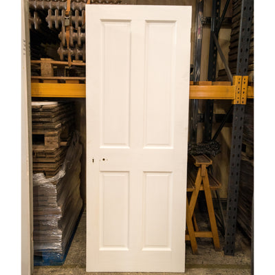 Reclaimed Victorian Style 4 Panel Door - 198.5cm x 76cm - architectural-forum