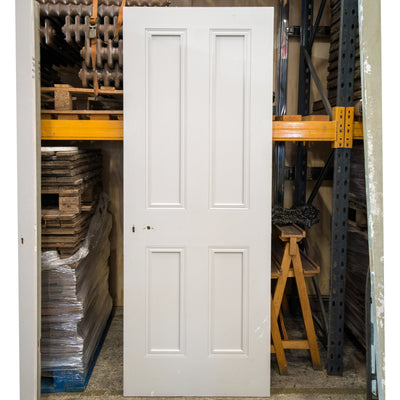 Reclaimed Victorian Style 4 Panel Door - 198cm x 75.5cm - architectural-forum