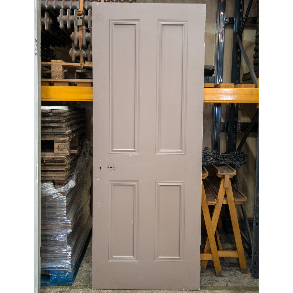 Reclaimed Victorian Style 4 Panel Door - 197cm x 76cm | The Architectural Forum