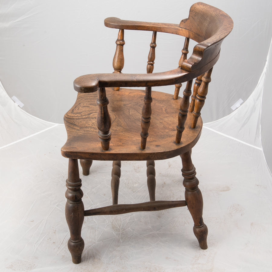 Victorian Elm Admiral Captain's Chair