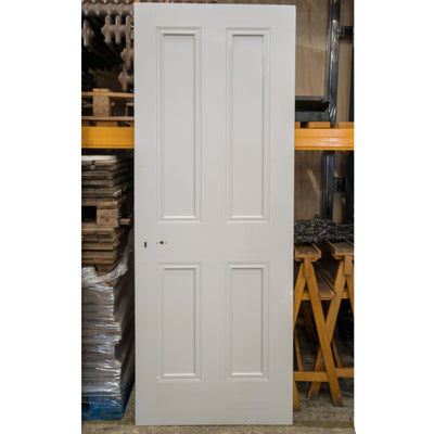 Reclaimed Victorian Style 4 Panel Door - 198.5cm x 75cm - architectural-forum