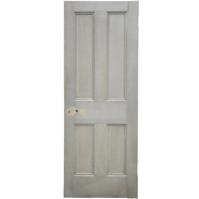 Reclaimed Victorian 4 Panel Door - 194.5cm x 75.5cm - architectural-forum